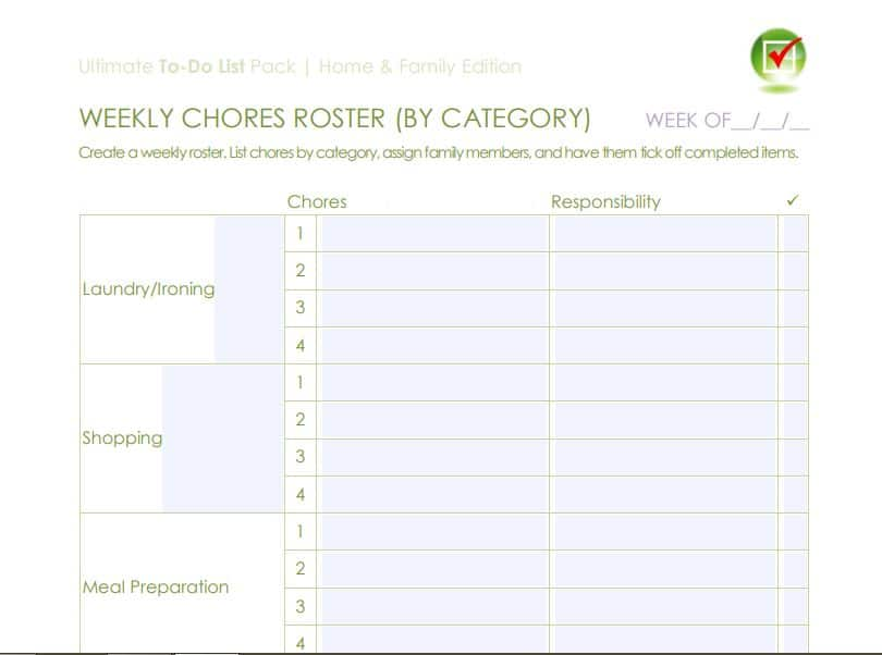 chore roster