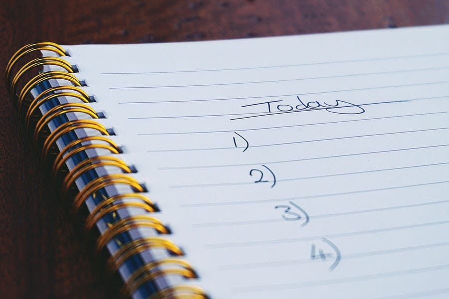 Create a List of Things to Do Before You Leave