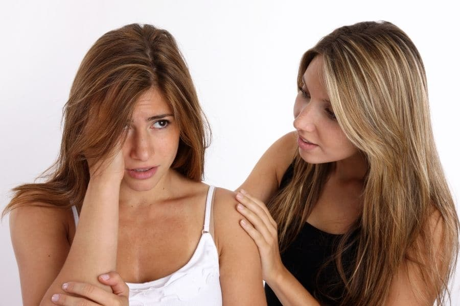 Discuss your feelings with close friend or relative